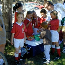 One of her first soccer teams... I can't believe I forgot the name!