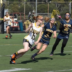 I will never forget the first goal she scored in lacrosse... This picture reminds me of that moment.